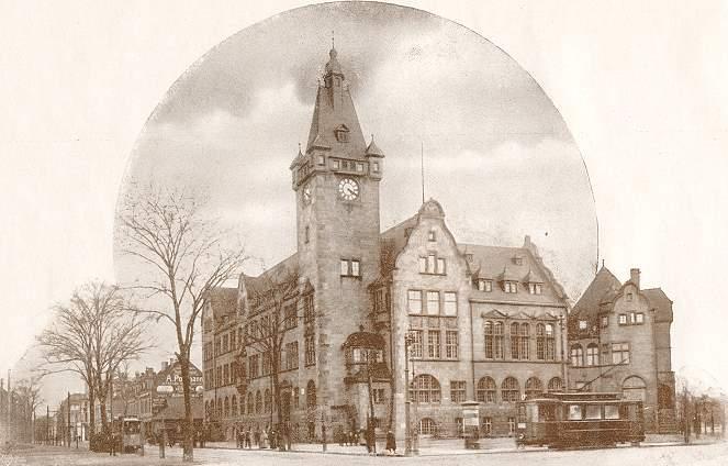 Rathaus Hamborn um 1910