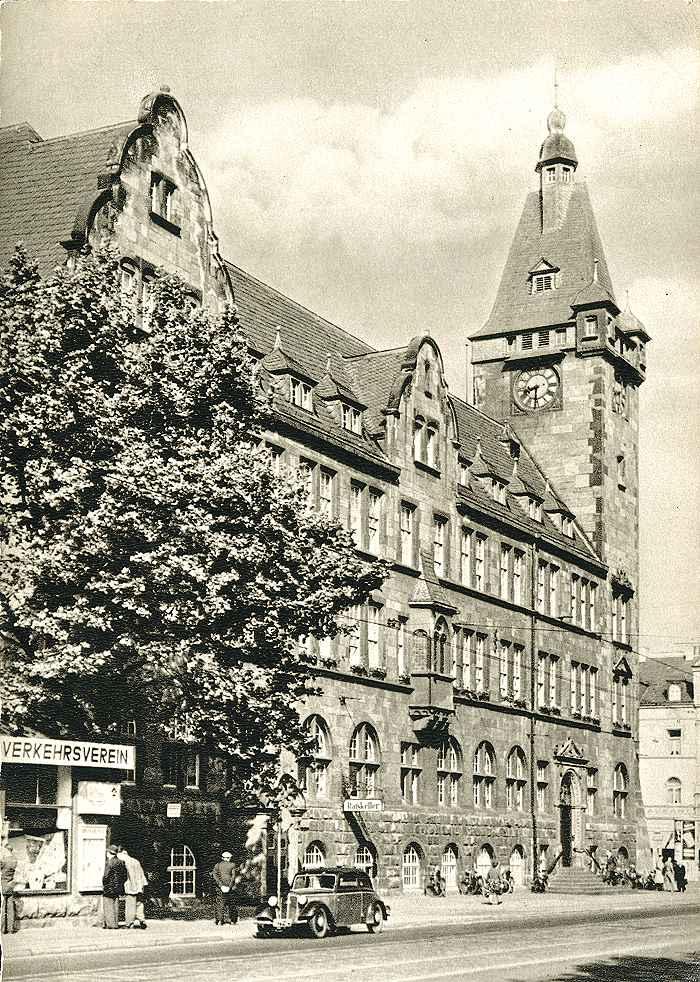 Das Hamborner Rathaus in der dreissiger Jahren