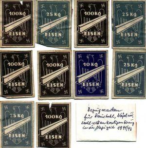 Bezugsmarken 1941 1942