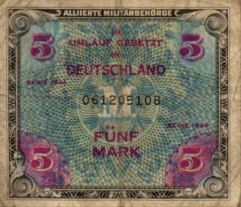 Geldschein Militärbehörde 1944